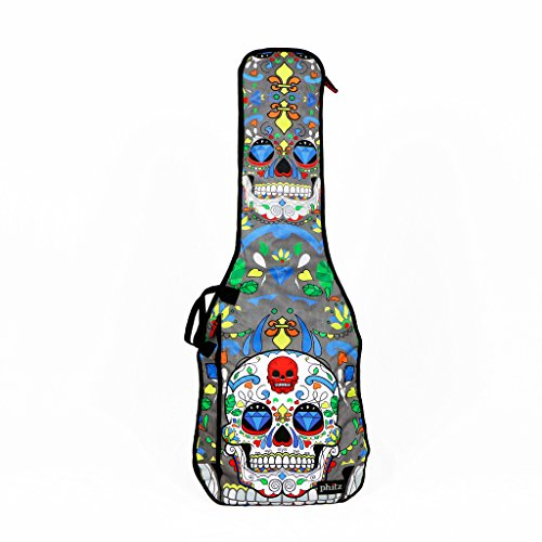 Electric Jazz Guitar Case (Phitz Electric Guitar Case, Sugar Skull -)