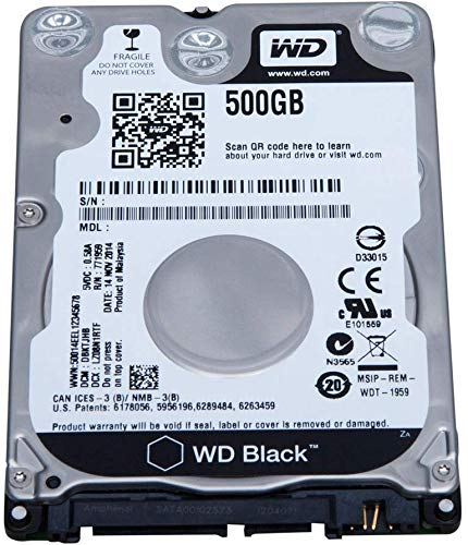 "(Oemgenuine WDC 500GB 2.5"" HDD SATA 7200RPM Internal Laptop OEM Hard Drive for PC Mac PS3 PS4 Playstation WD5000LPVX 500 GB 2.5"