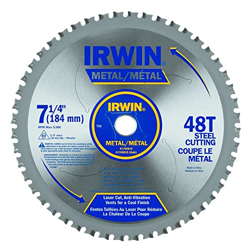 IRWIN Tools Metal-Cutting Circular Saw Blade, 7 1/4-inch, 48T (4935555)