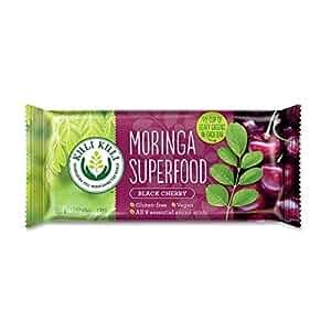 Kuli Kuli Moringa Super Food Bar, Black Cherry, 12 Count
