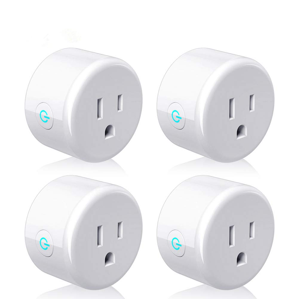 Smart Plug, Lightstory Mini Wi-Fi Socket Outlet Works with Alexa Echo/dot Compatible with Google Home Assistant IFTTT, Remote Control Your Devices from Anywhere, No Hub Required, 4 Pack