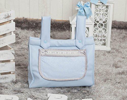 Babyline Bombón - Bolso panera para silla, color gris Azul