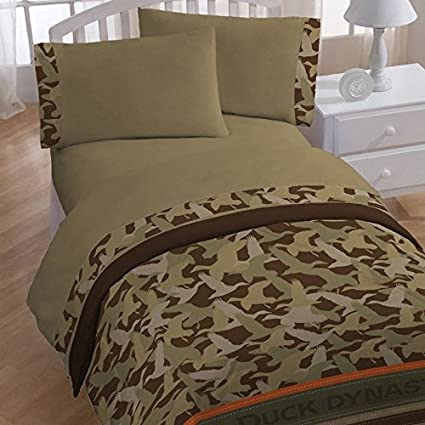 Superb 4pc Duck Dynasty Twin Bedding Set Duck Commander Camo Comforter And Sheet  Set