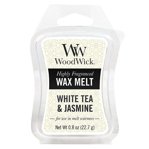 Woodwick, Mini Cera da sciogliere al tè Bianco e Gelsomino, in plastica, Colore Giallo 57062