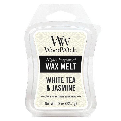 Woodwick White Tea and Jasmine Mini Wax Melt, Plastic, Yellow 57062