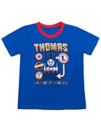 Thomas and Friends - Boys Infant Toddler Crew Neck T-Shirt, Royal Blue