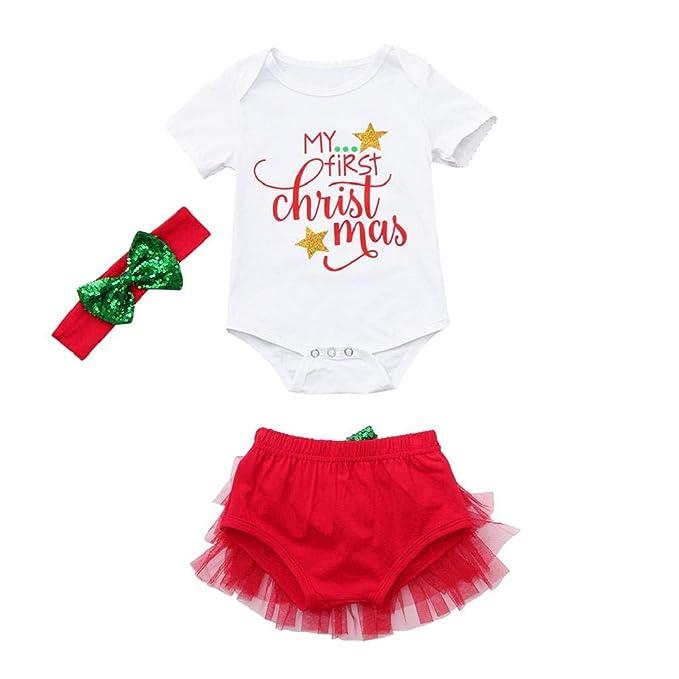 QUICKLYLY Conjuntos De Navidad para Bebé Niña Niño Infantil Regalo ...