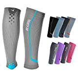 """Thirty48 - \""""The Sock Geeks\"""", Cp Series Calf/Shin Splint Compression Sleeves-Sock 1 Pair, Maximize Recovery by Increasing Oxygen to Muscles, Catalyst AF Design Creates Airflow, Retail Packaging"""