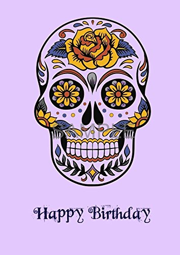 Mexican Sugar Skull Punk Gothic Greeting Birthday Card A5 Amazoncouk Handmade