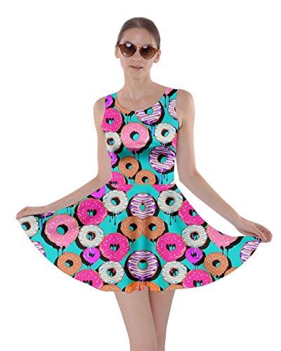 CowCow Womens Mint Donut Skater Dress, Mint Donut - -
