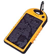 Solar Charger - Faddist Solar Portable Phone Battery Charger 12000mah Portable Backup Power Bank Pack Water/ Shock/ Dust Resistant Dual USB Charger 5000mah Solar Battery Panel Dual USB Port Rain-resistant, Dirtproof and Shockproof Portable Charger Backup External Battery Pack Power Bank for Iphone 6, 6 Plus, 5s, 5c, 4s, 4, Ipod Touch, Ipad Mini,ipad 1,2,3,4,5,6,ipad Air Retina (8 Pin Adapter Included), Samsung Galaxy Note 2, Note 3, S2 S3, S4, S5,s6 ,S6 Edge, Nexus 4/5/7,moto X, Lg G2/3,sony Xperia Z1 Black and Other Usb-charged Devices. (Orange)
