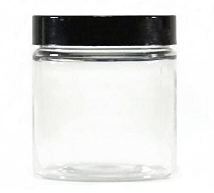 cd226578766e 1PC 400ML 14oz Clear Plastic Pot Empty Cosmetic Makeup Jar Container Cases  With Black Lid Cream Lotion Box Ointments Bottle Food Sample Food Kitchen  ...