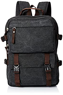 Polare Canvas Backpack Rucksack Hike Bag Messenger Bag Satchel Fit 15.6''laptop