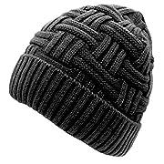#LightningDeal 82% claimed: Loritta Mens Winter Warm Knitting Hats Wool Baggy Slouchy Beanie Hat Skull Cap