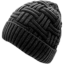 Loritta Mens Winter Warm Knitting Hats Wool Baggy Slouchy Beanie Hat Skull Cap