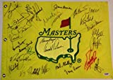 1997 MASTERS Golf Champs SIGNED FLAG TIGER WOODS A. Palmer Jordan Spieth - PSA/DNA Certified - Autographed Golf Equipment