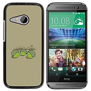 Caucho caso de Shell duro de la cubierta de accesorios de protección BY RAYDREAMMM - HTC ONE MINI 2 / M8 MINI - Soldado Pea divertido