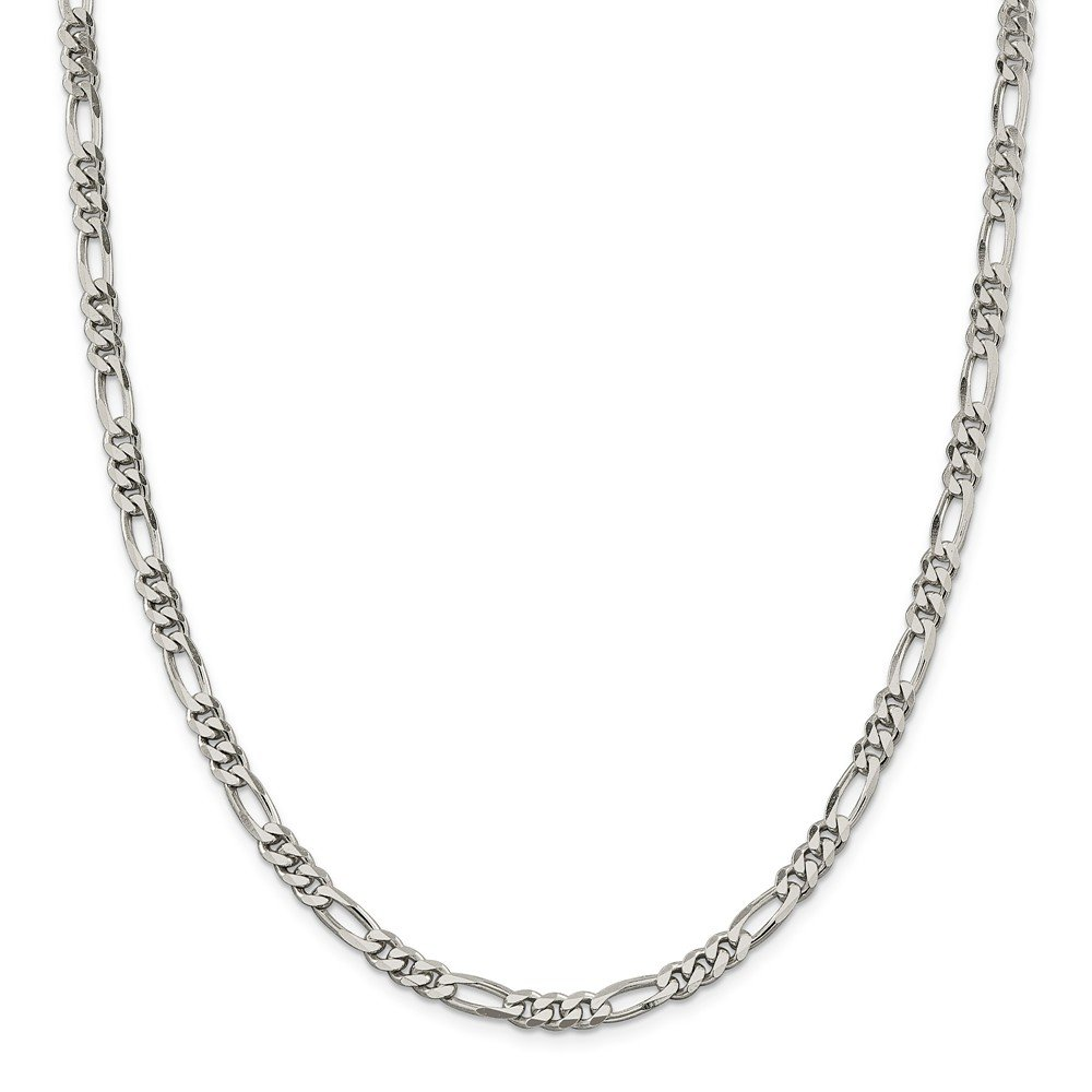 Sterling Silver 5.25mm Figaro Chain