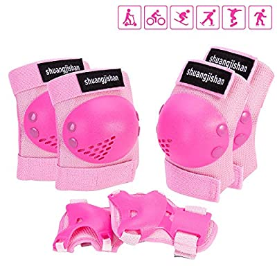 Knee Pads for Kids/Youth, 6-in-1 Sports Knee Elbow Wrist Pads Guards, Safety Protective Gear for Roller Skates Cycling BMX Bike Skateboard Inline Skatings Scooter Riding and Other Extreme Sports : Sports & Outdoors
