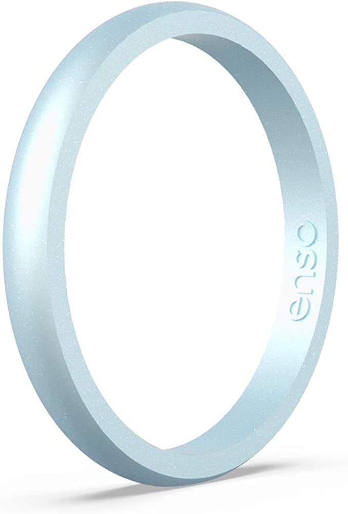 Made in The USA and Safe Enso Rings Halo Birthstone Silicone Ring Comfortable Breathable Lifetime Quality Guarantee