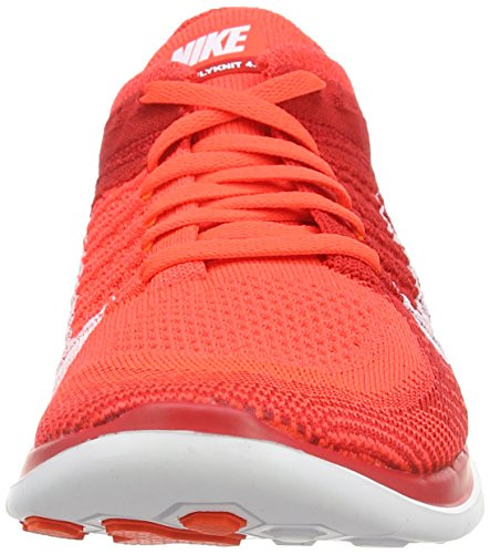 NikeFree 4.0 Flyknit - Scarpe da Corsa Uomo Rosso (Rot (Brght Crmsn/White-unvrsty Rd-t 601))