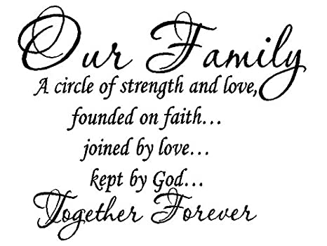 Amazon.com: byyoursidedecal Our Family a Circle Strength ...