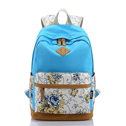 Características Azul Bolsos Paquete Moda Nuevo De Hombros Moin mochila Mochila Personalidad Étnicas Bilsa Cielo qRX7qwp