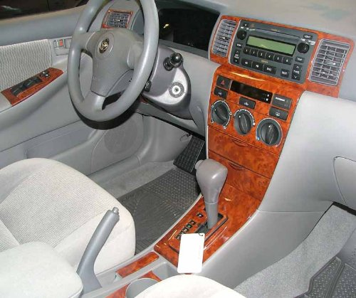 Wood Kits Toyota Dash (TOYOTA COROLLA INTERIOR BURL WOOD DASH TRIM KIT SET 2003 2004 2005 2006 2007 2008)