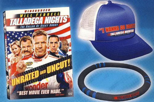 Talladega Nights: The Ballad of Ricky Bobby (Widescreen) (Unrated) (DVD Gift Set with Talladega Nights Hat & Steering Wheel Cover)