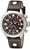 Invicta Men's 0352 II Collection Stainless Steel Watch with Leather Band