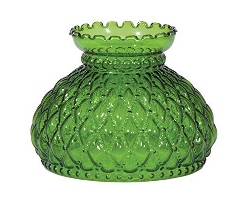 (B&P Lamp 7 Inch Fitter, Dark Green Quilted Shade)