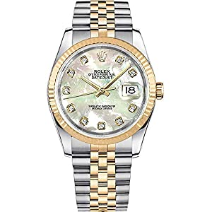 Best Epic Trends 51A-H%2BlPQcL._SS300_ Rolex Datejust 36 116233 Mother of Pearl Dial with Diamonds Luxury Watch