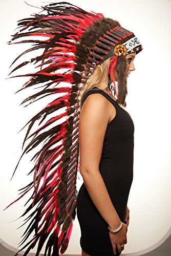 Native American Comanche Chief Headdress (Unisex Adult; One Size Fits (Comanche Indian Costumes)