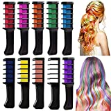 Hair Chalk Comb,MUXItrade Temporary Hair Chalk Colour Set,10 Pcs Mini Instant Hair Chalk Comb for Kids Hair Dyeing,Party,Christmas and Cosplay DIY