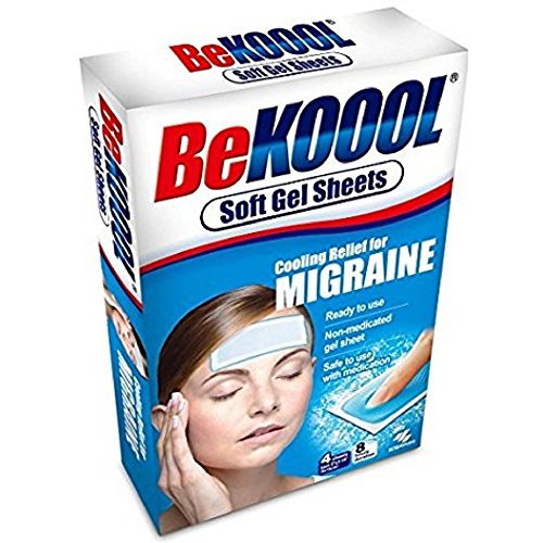 Be Koool Cooling Relief For Migraine Soft Gel Sheets 4 Each (Pack of 9) Be Koool Gel Sheets