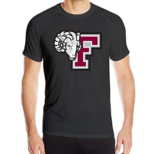[PTR Men's HyperDri Fordham Mascot F Logo University Gym Short Sleeve Size S Black] (College Football Mascot Costumes For Sale)