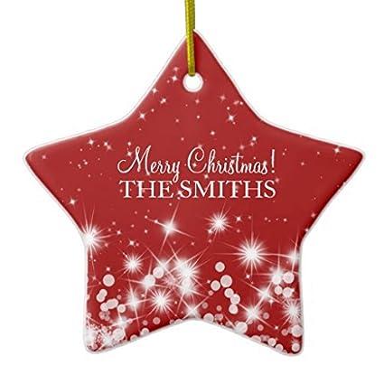 Elegant Handmade Christmas Ornaments.Amazon Com Merry Christmas Elegant Winter Sparkle Ruby Red