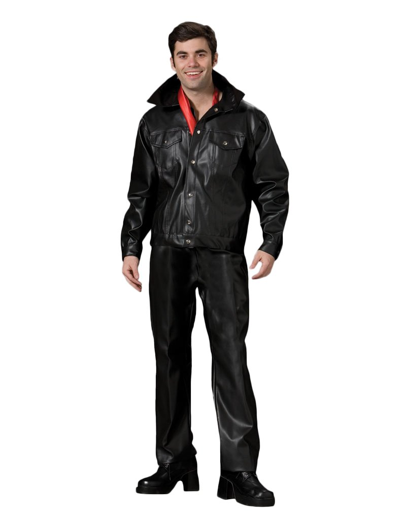 Men's Leather Elvis Theater Costume, Large by Tabi's Characters