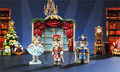 My Fairy Gardens Christmas Miniature - The Nutcracker Figures - Set of 3 - Mi...