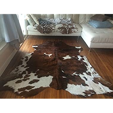 Superior Quality Rodeo Cowhide Rug Size 5x7 Feet(150cmx 210cm) TC5X7