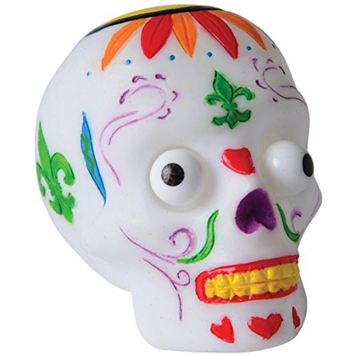 Squeeze Popping Eye Sugar Skull Stress Ball Toys (Skulls Wholesale)