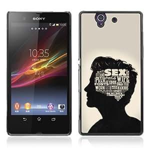 Designer Depo Hard Protection Case for Sony Xperia Z L36H / Sense Of A Man SEX
