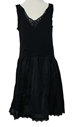 Coral Kids Girls Antistatic Rosette Lace Full Slip - Black (Size 14)