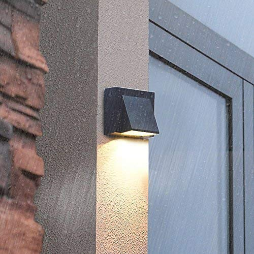 Lumina Glintac Outdoor 5 Watts Led Up Down Wall Light Aluminum Body Black Color, Water Proof, Square