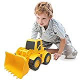 BOLEY Large Bulldozer Construction Vehicle - 18-inch Button-Activated Light & Sound Construction Toys, Perfect Truck toy for Toddler Boys