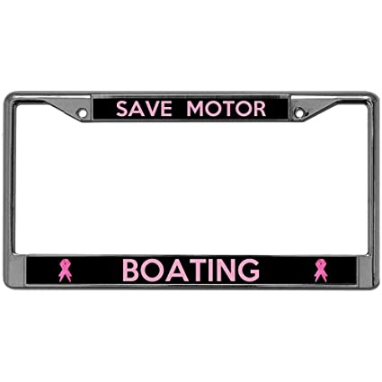 Amazon com: GND Save Motor Boating Chrome License Plate
