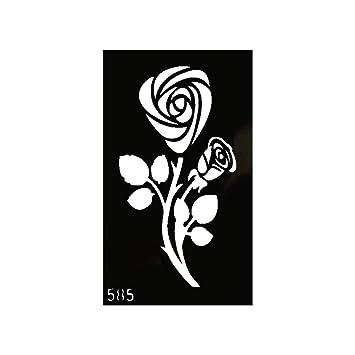 Just Fox – Plantilla de tatuaje de henna, aerógrafo Stencil Dövme ...