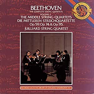 Beethoven: The Complete String Quartets, Vol. 2: The Middle String Quartets. Op.59, Op.74, Op.95