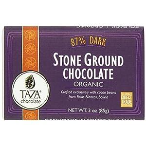 Taza Organic Stone Ground Chocolate Bars - 87% Dark (2.5 ounce)