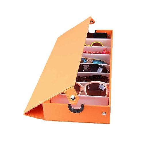 Ducomi Elton - Organizzatore per Occhiali con 8 Scomparti per Occhiali da Sole e da Vista - Espositore Porta Occhiali - Dimensioni: 48 x 18 x 6 cm (Light Blue) Eq3FwDrpf